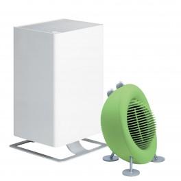 Oczyszczacz powietrza Stadler Form Viktor biały + Termowentylator Stadler Form - Max limonkowy