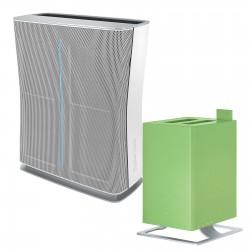 Zestaw Oczyszczacz powietrza Stadler Form Roger biały + Nawilżacz ultradźwiękowy Anton limonkowy